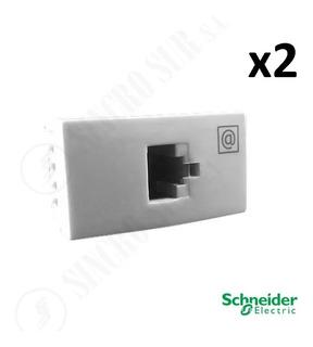 Toma Red Computacion Rj45 Cat 5e Base Plasnavi Schneider X2
