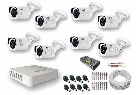 Kit Cftv 8 Cameras Jfl 2 Mega Full Hd 1080p Hdtvi