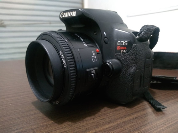 Câmera Canon T4i - Com 50mm E 35mm - Usada Em Ótimo Estado