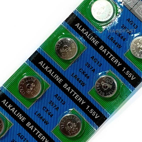 Cartela Pilha Bateria Lr44 Ag13 Cx44 Lr44w 1.55v 10x Wlxy
