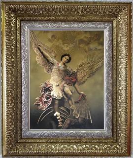 Cuadro Marco Grabado San Miguel Arcangel 92x122cm