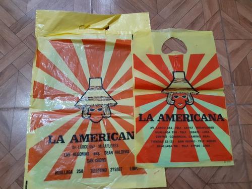 Yh Antiguas Bolsas La Americana , Grande Y Pequeña Cambio