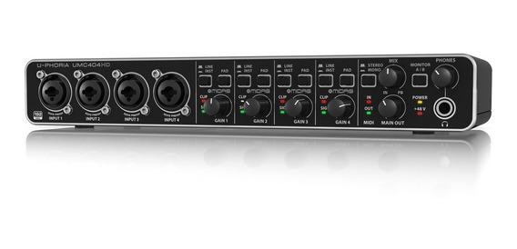Interface De Audio Behringer U-phoria Umc404hd