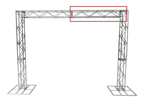Imagem 1 de 6 de Treliças Box Truss Q20 Aço Peça De 1,5 Metros - Lourenço