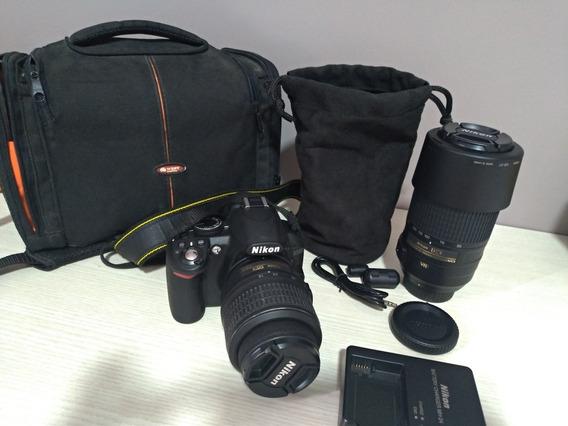 Câmera Nikon D3100 + Lente Nikon 55-300mm