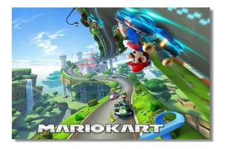 Poster Nintendo Mario Kart 8 / Mario & Luigi 63 X 45