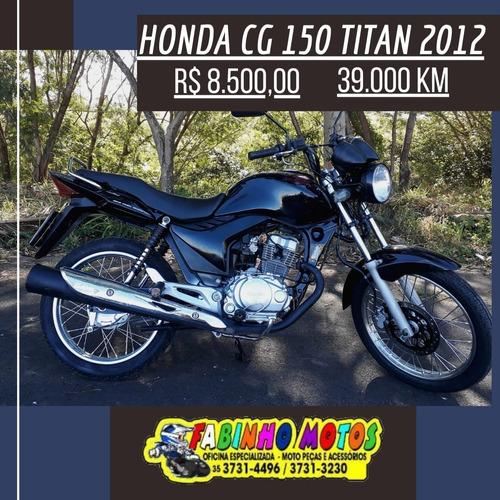 Imagem 1 de 7 de Honda Cg 150 Titan 2012 Preta Novíssima!!!