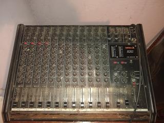 Consola Potencia Shure Sm58 Bafles Cajas Sonido Sala Ensayo