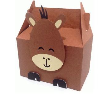 Caixa Box Cute Cavalo Horse Fazenda - Arquivo Silhouette