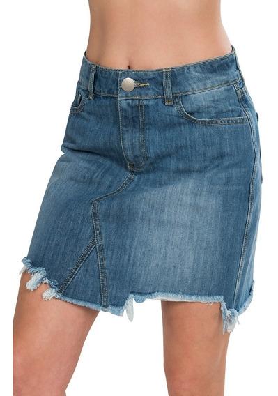 Faldas Cortas Mujer Mezclilla Algodón Azul X91100
