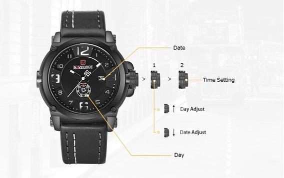 Relógio Masculino Esportivo Naviforce 9099 Importado Barato
