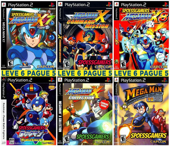 Megaman Collection (6 Jogos) Patch Ps2 Desbloqueado