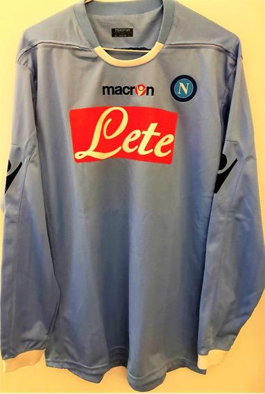 Camisa Napoli 2010/11 Usada Em Jogo Mangas Longas Cribari 25