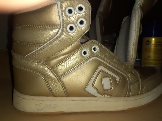 Zapatillas Qix Doradas #37