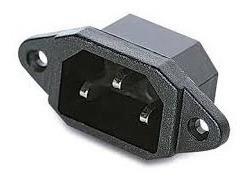 Conector Macho Pc Interlock Chasis Iec C14 X1 Unidad
