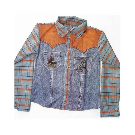Roupa Country Infantil Menino Camisa Peão Barretos Montador