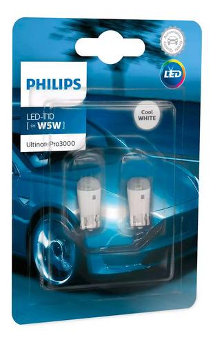 Imagen 1 de 1 de Lampara Philips Led T10 12v Blanca Ultinon Pro Pack X2