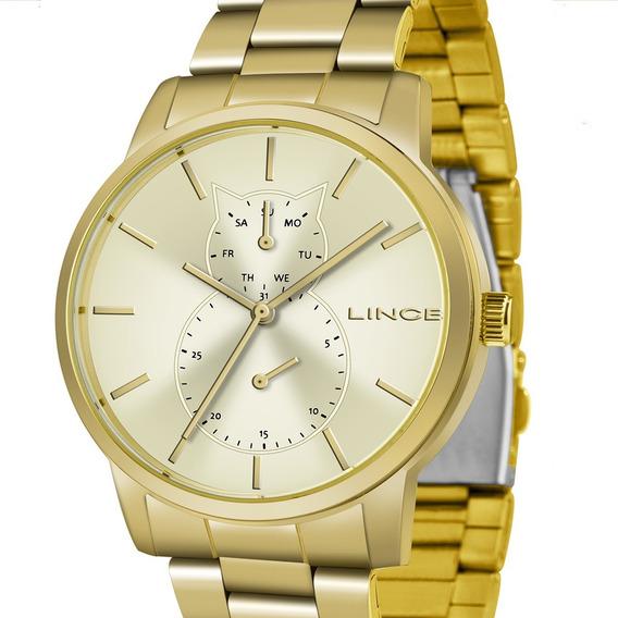 Relógio Lince Multifunção Feminino Lmgj086l C1kx Dourado Nf