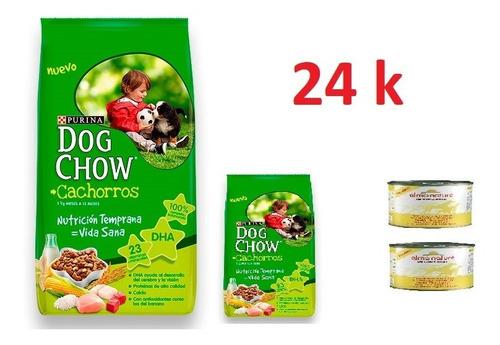Dog Chow Cachorro 24k + 2 Pate + Envio Gratis