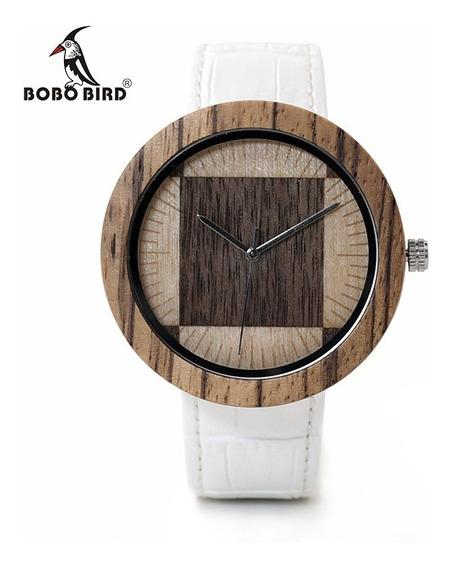 Relógio De Madeira Analógico Bobo Bird O14 - Top