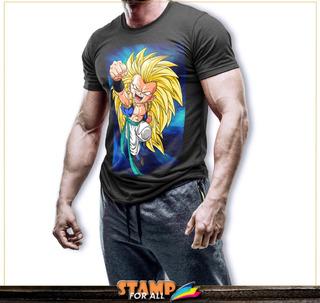 Camiseta Dragon Ball Z Super Gotrunks Sayajin Stamp For All