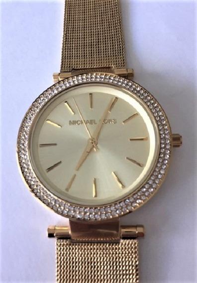Relógio De Pulso Feminino Michael Kors Aço Dourado Mk3368