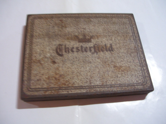 Antigua Caja De Cigarrillos Chesterfield