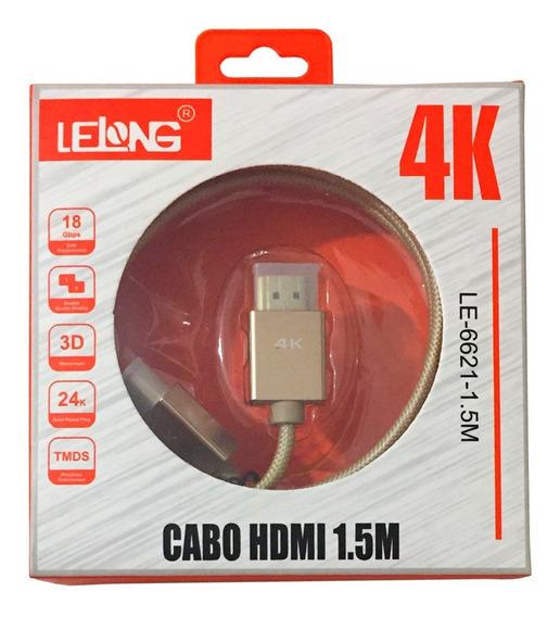 Cabo Hdmi 2.0 Ultra Hd 4k Macho X Macho 1,5m