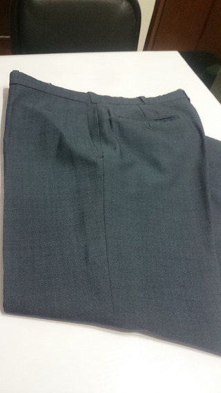 Pantalón Vestir Hombre Talle 48 .azul Petroleo De Lino