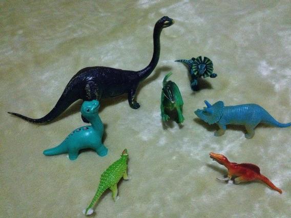 7 Dinossauros Em Perfeito Estado De Conservação Plastico
