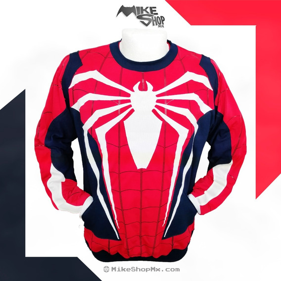 Spiderman Ps4 Sudadera Premium De Coleccion