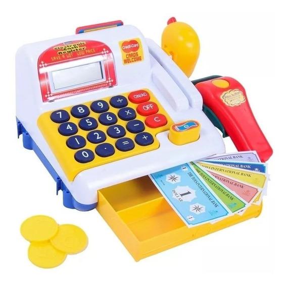 Caixa Registradora Infantil Belfix Com Scanner Moedas Cesta