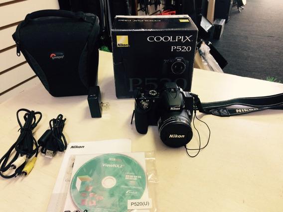 Câmera Nikon Coolpix P520 E Acessórios - Loja Jarbas Instrum