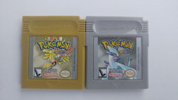 Pokémon Gold Gbc + Pokémon Silver Gbc Originais + Garantia