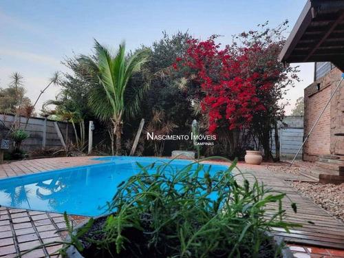 Chácara Com 2 Casas E 1 Rancho À Venda, 360 M² Por R$ 848.000 - Village Campinas - Campinas/sp - Ca0266