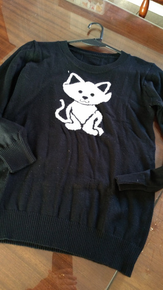 Sweter Negro Cats T Small