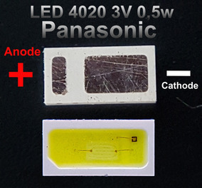 Kit 10 Pçs Led 4020 3v 1w Backlight Tv Panasonic Tc40c400b