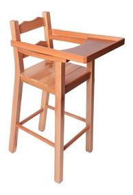 Banqueta Cadeira Refeição Bebê Infantil Madeira Envernizada
