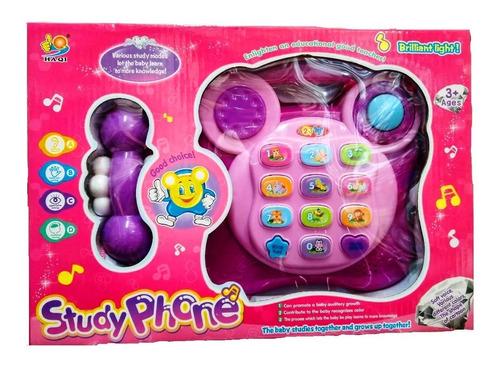 Imagen 1 de 1 de Teléfono Infantil Didáctico Musical Con Luz Y Sonido. Envio