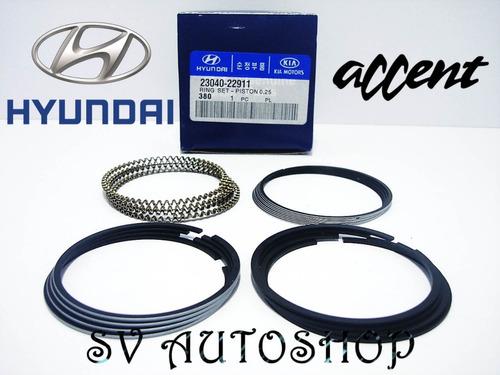 Aros Anillos Hyundai Accent 1.5 0.25-0.10 23040-22911