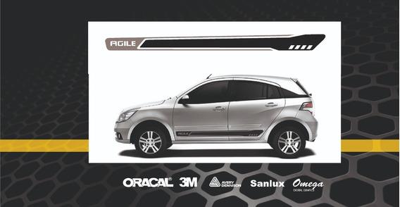 Calco Franja Lateral Chevrolet Agile