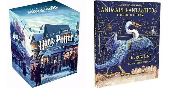 Box Harry Potter 7 Livros + Livro Animais Fantásticos