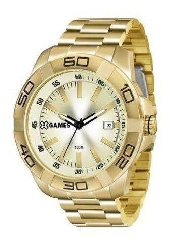 Relógio De Pulso Masculino Dourado X-games Cód. Xmgs1020