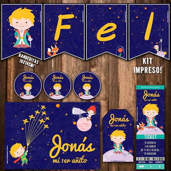 Kit El Principito Invitaciones, Stickers, Banderín Impreso!
