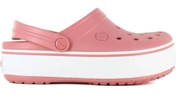 Crocs Crocband Plataforma Clog Blossom/white Originales 1103