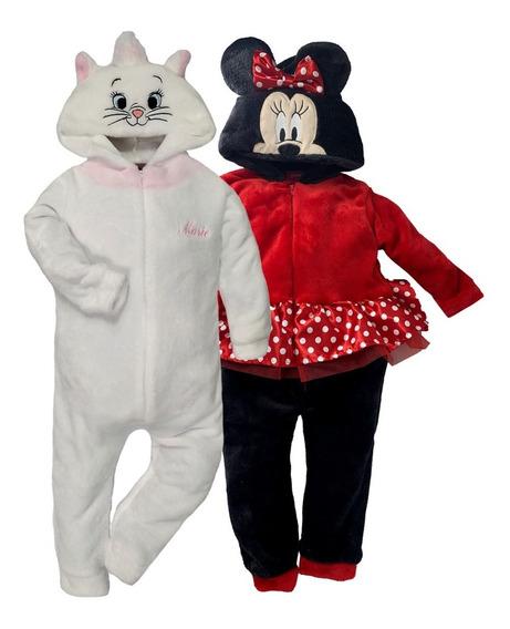 Kit 2 Mamelucos Disney Marie Y Minnie