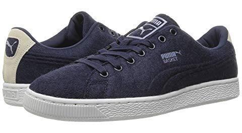 Zapatillas Puma Basket Lana Con Relieve Azul