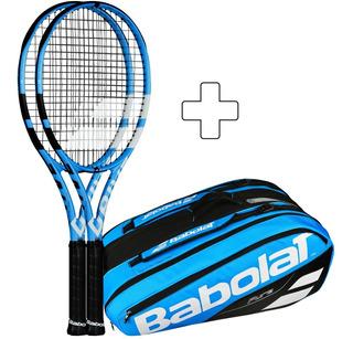 Raqueta Babolat Paquete 2 Raquetas Drive 300gr + Termox12