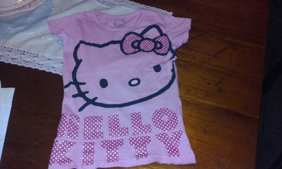 Remera Nena Hello Kitty Original Talle M 10 Años