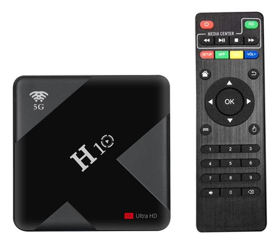 H10 Android 9.0 Caixa De Tv Inteligente 4 K Media Player 6 K